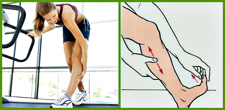 Массаж с судорогами ног