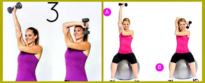 какие упражнения для подтягивание обвисших рук