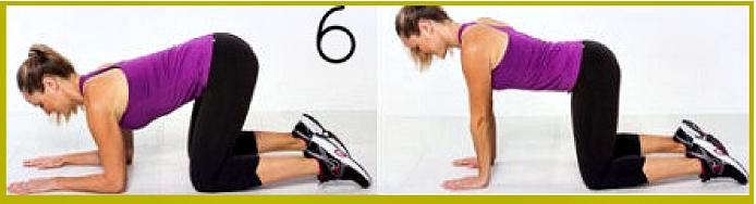 Упражнение по сгибанию рук в положении на коленях