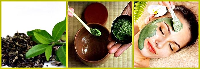 омолаживание масками с зеленым чаем