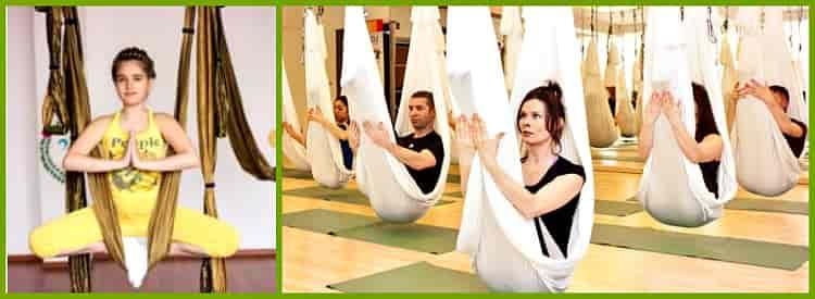 польза йоги антигравити
