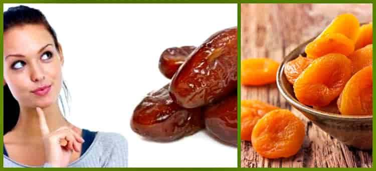 финики и абрикос