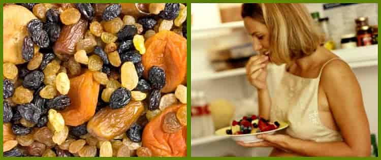 состав фруктов сухих