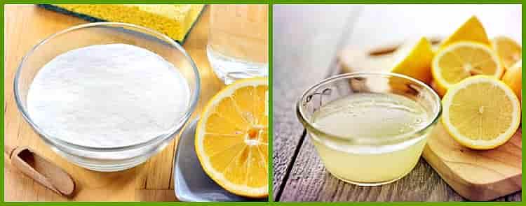 уксус сода и лимон
