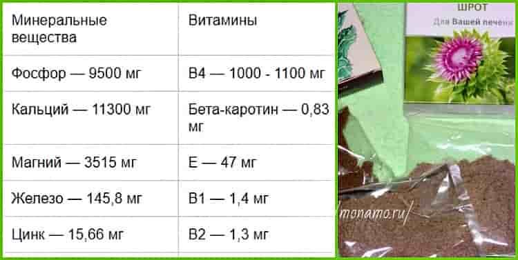 биохимический состав шрота