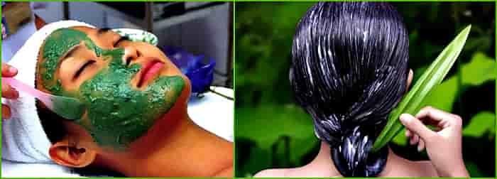 применение спирулины для лица и волос