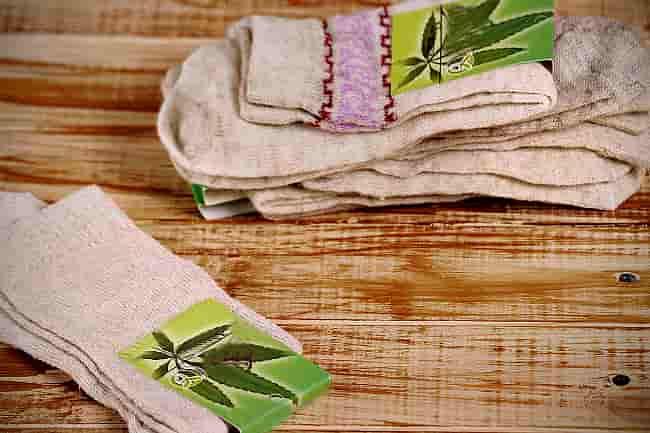 носки из ткани конопли