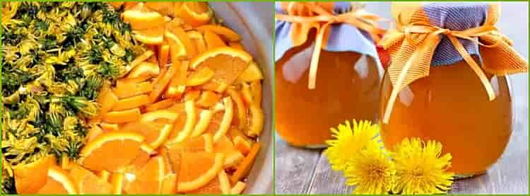 варенье одуванчиковое с апельсинами и лимонами