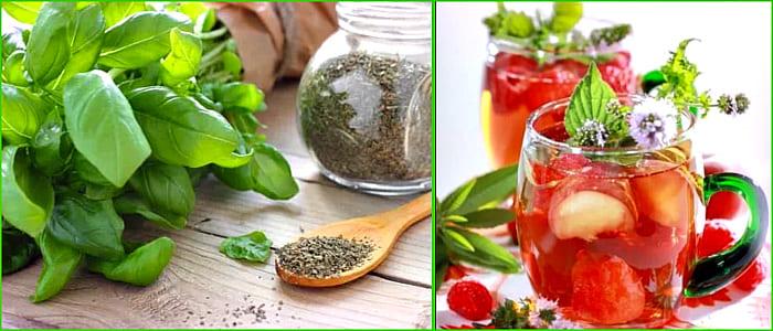 чай с базиликом и клубникой