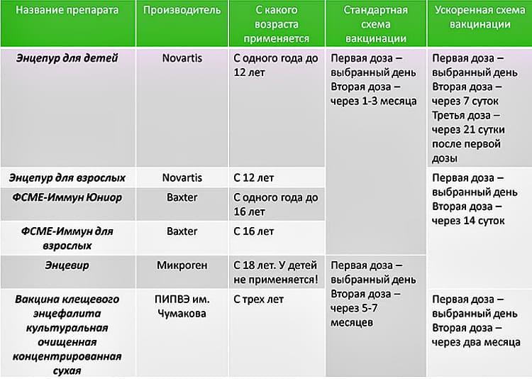 схемы прививки