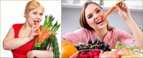 польза моркови для женщины