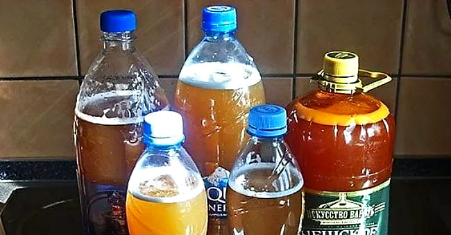 в бутылках