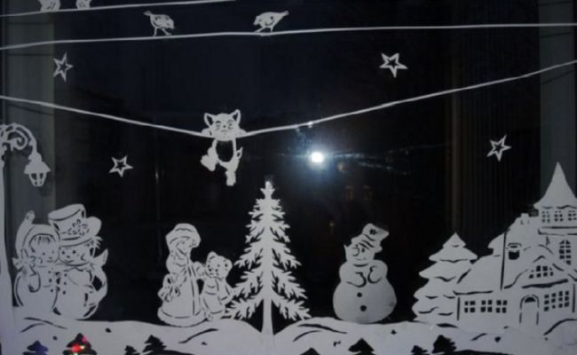 Трафареты на окна 2020 - картинки для вырезания на Новый Год